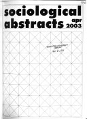 Sociological Abstracts - Band 51,Ausgabe 2 - Seite 1180