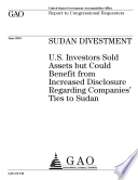 Sudan Divestment