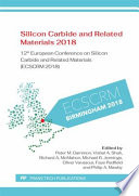Silicon Carbide and Related Materials 2018 Book