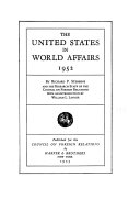 The United States In World Affairs