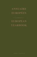 European Yearbook / Annuaire Europeen 1970