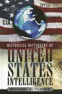Pdf Historical Dictionary of United States Intelligence