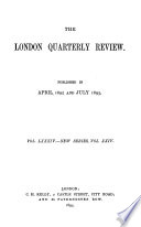 The London Quarterly Review  , Volume 84