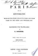 Paris and its environs Book
