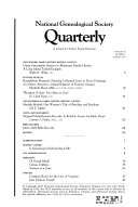 National Genealogical Society Quarterly