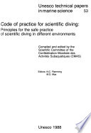 Code of Practice for Scientific Diving