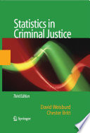 Statistics in Criminal Justice Book