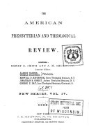 The American Presbyterian and Theological Review
