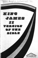 King James II Version of the Bible Book