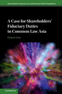 Pdf A Case for Shareholders' Fiduciary Duties in Common Law Asia