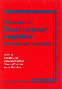Variation in second language acquisition