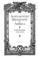 Scots and Scots' Descendants in America