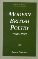 Modern British Poetry 1900 1939