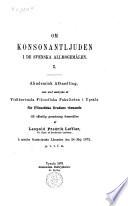 Om konsonantljuden i de svenska allmogemålen I...