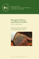Reception History and Biblical Studies ebook