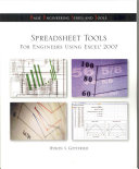 Cover of Spreadsheet Tools for Engineers Using Excel ® 2007