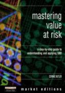 Mastering Value at Risk Book