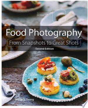 "Food+PhotographyDo you need help making your food look as delicious as it tastes? Are you a ""foodie"" hungry for more tantalizing photos of your culinary creations? Do you have a food blog that you'd like to take to the next level, with better images and a stronger business strategy? Then this book is for you! In Food Photography: From Snapshots to Great Shots, Second Edition, photographer Nicole Young returns to dish up the basics on everything you need to know to make great food images, from getting the right camera equipment to mastering the key photographic principles of aperture, ISO, and shutter speed. She offers tips on styling food using props, fabrics, and tabletops; and she explains how to improve your photos through editing after the shoot. This new edition features many brand-new images and examples, accompanied by up-to-date discussions on achieving good lighting and composition. In addition Nicole covers developments in the industry that have emerged since the publication of the first edition, such as the entry of mirrorless cameras on the scene, and more. She also provides a brand new post-processing section focusing on Photoshop Lightroom, showing how to improve your photos through sharpening, color enhancement, and other editing techniques. Beautifully illustrated with large, vibrant photos, this book offers the practical advice and expert shooting tips you need to get the food images you want every time you pick up your camera."