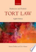 """Markesinis and Deakin's Tort Law"" by Simon Deakin, Basil Markesinis"