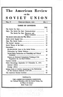 American Review on the Soviet Union
