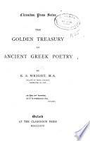 The golden treasury of ancient Greek poetry
