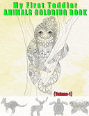 My First Toddler Animals Coloring Book