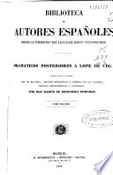 Dramáticos contemporáneos de Lópe de Vega  , Volume 2