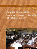 Pdf Strategies for Sustainable Financing of Secondary Education in Sub-Saharan Africa