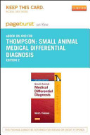 Small Animal Medical Differential Diagnosis Pageburst on Kno Access Code
