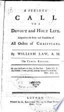 Serious Call to a Devout and Holy Life Book