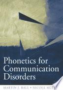 Phonetics for Communication Disorders