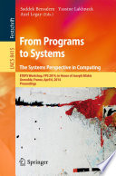 From Programs to Systems   The Systems Perspective in Computing Book