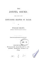 The Joyful Sound Notes On The Fifty Fifth Chapter Of Isaiah