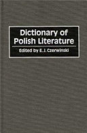 Dictionary of Polish Literature Online Book