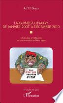 La Guinée-Conakry de janvier 2007 à décembre 2010