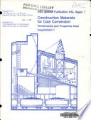 Construction Materials For Coal Conversion Book PDF