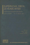 Supernova 1987A  20 Years After Book