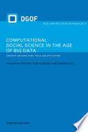 Computational Social Science in the Age of Big Data Book