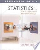 Statistics for Management and Economics, Abbreviated Edition