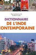 Pdf Dictionnaire de l'Inde contemporaine Telecharger