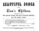 Pdf Beautiful Songs for Zion's Children, etc