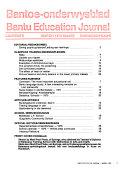 Bantoe onderwysblad