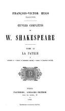 Œuvres complètes de W. Shakespeare ...: La patrie: Richard II. Henry IV (1e partie) Henry IV (2e partie