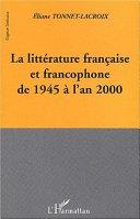 Pdf LA LITTERATURE FRANCAISE ET FRANCOPHONE DE 1945 A L'AN 2000 Telecharger