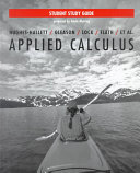 Applied Calculus for Business, Life, and Social Sciences, Student Study Guide