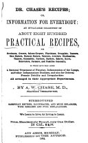 Dr  Chase s Recipes  Or  Information for Everybody