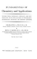Fundamentals of Chemistry and Applications Chosen from Inorganic  Organic  and Biochemistry