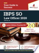 IBPS SO Law Officer   Complete Practice Kit  Pre  Mains  Previous Year Papers  Book PDF