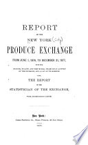 Report of the New York Produce Exchange Book