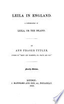 Leila in England  A Continuation of Leila  Or  The Island  4th Ed